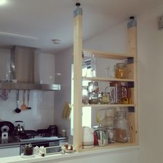 Kureha301さんの、びん,IKEA,2×4材,ラック DIY,DIY,PILLAR BRACKET,ピラーブラケット,キッチン,のお部屋写真