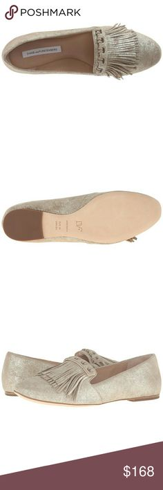 Diane von Furstenberg Alderny Metallic Flat Elegant and Gorgeous Diane von Furstenberg Alderny Metallic Flat.  Leather upper Fringe detail Almond toe Leather outsole Slightly padded insole Made in Italy  Dust bag included Diane von Furstenberg Shoes Flats & Loafers