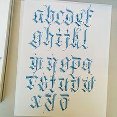 A little alphabet practice.  #calligraphy #parallelpen