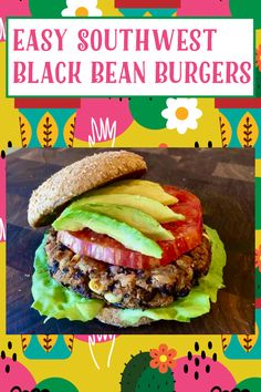 Black Burger, Black Bean Burgers, Vegan Gluten Free, Gluten Free Recipes, Vegan Vegetarian, Potato Mashers, Heirloom Tomatoes, Vegan Butter, Black Beans
