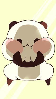 icon, kawaii, and love image Cute Panda Drawing, Cute Kawaii Drawings, Cute Animal Drawings, Kawaii Art, Cute Panda Wallpaper, Kawaii Wallpaper, Kawaii Doodles, Cute Doodles, Panda Wallpapers