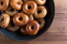 Perfect weekend baking project: our soft, chewy made-from-scratch bagels! Do it!