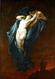 """Gustave Dorè, """"Paolo et Francesca da Rimini"""", oil on canvas, 1863."""