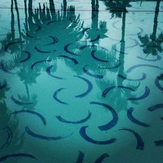 benphe:  Hockney's painted pool filled with water                                                                                                                                                                                 More
