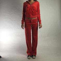 7597539a08 Juicy Velour Track Suit Red juicy Couture tracksuit with rhinestone accents Juicy  Couture Other Red Tracksuit