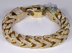 Mens Diamond Franco Bracelet 10K Yellow Gold 43.11 ct 410 grams at http://www.24diamonds.com/mens-diamond-franco-bracelet-10k-yellow-gold-43-11-ct-410-grams_30051.html