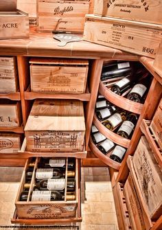 Part of the attraction and romance of wine is the ability of certain varieties to age, subtly transforming over time to reveal depths and complexities worth waiting for. Wooden Wine Crates, Wine Lovers, Home Wine Cellars, Wine Cellar Design, In Vino Veritas, Wine And Beer, Wine Storage, Wine And Spirits, Wine Drinks