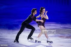 Tessa Virtue and Scott Moir of Canada perform in...