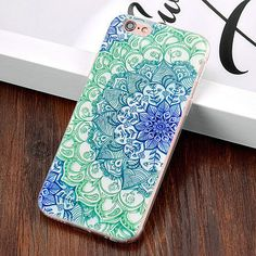Boho Blue Floral iPhone Case