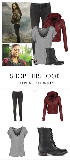 The 100 - style by bebe6121985 on Polyvore featuring LE3NO, Frame Denim, Steve Madden, Origami Jewellery and Reyes