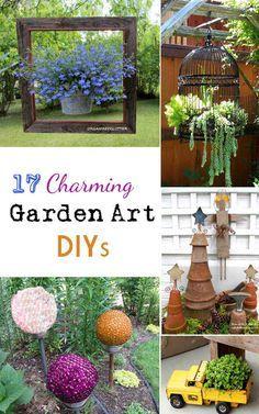 17 Charming Garden Art DIYs