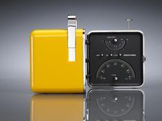 Brionvega Cube Radio (1964) | Designers: Marco Zanuso and Richard Sapper Industrial Kitchen Design, Vintage Industrial, Retro Design, Icon Design, Vintage Designs, My Design, Cube Design, Design Reference, Cool Designs