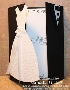 Creative Wedding day greeting cards | Innovative Greeting card designs for Wedding day congratulation, Bridal party card ideas and designs