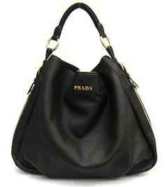 Prada Bag Leather Hobo Black BR4099