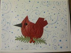 Iris Paper Folding Cardinal Card  www.caguimbalcreations.weebly.com