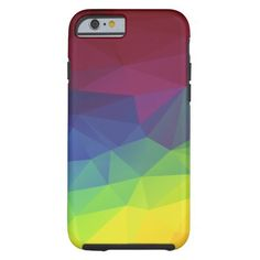 Colorful Abstract Geometric Pattern Tough iPhone 6 Case