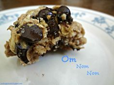 The Cooking Actress: Healthy Oatmeal Almond Butter Chocolate Chip Cookies