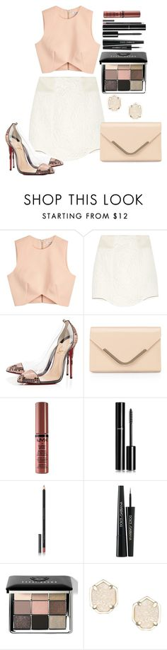"""""""Untitled #1296"""" by fabianarveloc on Polyvore featuring Finders Keepers, TIBI, Christian Louboutin, Accessorize, NYX, Chanel, Burberry, Dolce&Gabbana, Bobbi Brown Cosmetics and Kendra Scott"""