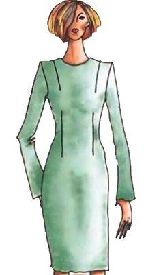 Выкройка-основа платья (вариант 2)