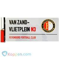 Straatbord feyenoord van Zandvlietplein: 40x18 cm -  Koppen.com