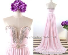 Hey, I found this really awesome Etsy listing at https://www.etsy.com/listing/204065771/strapless-sweetheart-long-pink-prom