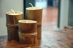 decoration natural deco nature deco bathroom bamboo candle holder bamboo candle holder original zen Source by rhinov_ Bamboo Art, Bamboo Crafts, Bamboo Ideas, Deco Nature, Nature Decor, Candle Set, Candle Holders, Decorating Tips, Decorating Your Home