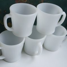 fire king mugs, my daily cuppa :) D Handles