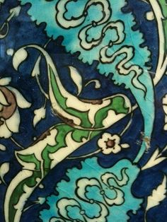 Close up of Islamic tile
