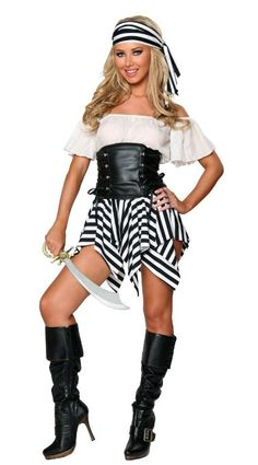 Womens #Caribbean #Pirate #Costume Swashbuckler Sexy Dresses #Halloween #Clubwear