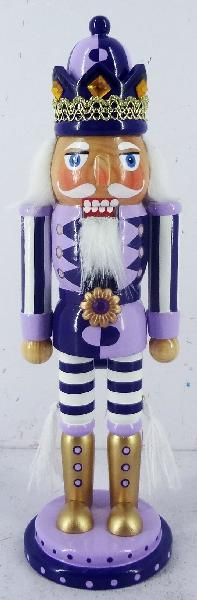 Our 10 inch Two Tone Lavender and Violet Nutcracker is part of the original Nutcracker King Collection. It is an exclusive design Nutcracker on Two-Tone combination, that enhances his character. Purple Christmas, Christmas Holidays, Christmas Gifts, Christmas Decorations, Christmas Soldiers, Nutcracker Soldier, Nutcracker Christmas, All Things Purple, Purple Lilac