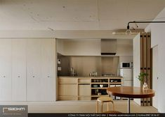 Design studio Minorpoet has remodeled an old Japanese apartment with minimalist interior and a hideaway kitchen behind folding doors. Tokyo Apartment, Japanese Apartment, Apartment Renovation, Apartment Interior, Minimal Apartment, Attic Apartment, Japanese Interior Design, Interior Design Tips, Interior Design Kitchen