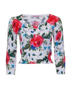 Review: Rouge Rose Cardi Floral Cardigan, Review Dresses, Timeless Fashion, Dress Collection, Knitwear, Floral Prints, Stuff To Buy, Fantasy, Inspiration