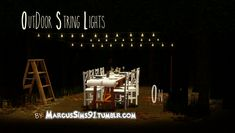 Marcus Sims 91 Tumblr Outdoor String Lights by MarcusSims91 - Sims 3 Downloads CC Caboodle