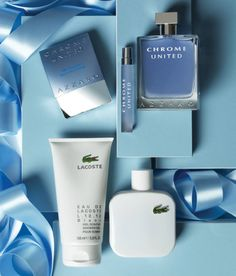 Show how much you really care with scents from Azzaro and Lacoste...