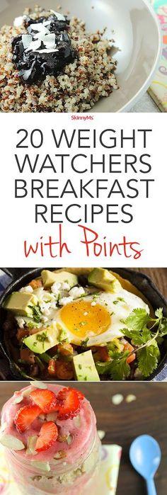 20 Weight Watchers Breakfast Recipes with Points! #ww #breakfast #skinnyms