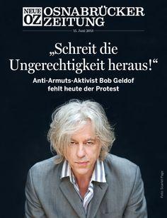 In unserer aktuellen iPad-Ausgabe (15.06.2013) sprechen wir mit Bob Geldof ... www.noz.de/digitalabo