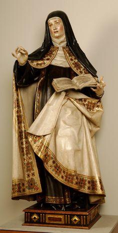 Gregorio Fernández - Santa Teresa de Jesús - 1624 - Museo Nacional de Escultura Madonna, Baroque Sculpture, Saint Teresa Of Avila, Spanish Art, Sacred Art, Western Art, Art History, Mary, Fashion