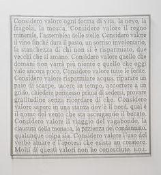Sabrina Mezzaqui  Valore, from Erri De Luca, 2012, cellulose,100x100 cm