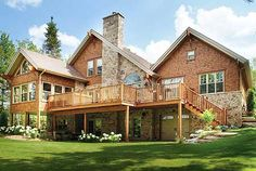 Brick Stone Wood-reminds me of this house in Musk. Country Club-love
