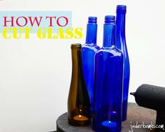 Awesome tutorial on how to cut glass bottles using string and nail polish remover. Cutting Wine Bottles, Bottles And Jars, Glass Bottles, Cut Bottles, Crafty Craft, Crafty Projects, Diy Projects To Try, Crafting, Bottle Art
