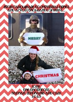 Our deployment Christmas card... Praying I never have to do another one like this.