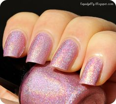 Lovey Dovey 5ml Custom Linear Holographic Nail by PrettyJelly, $4.25