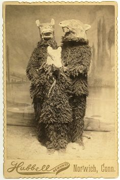Victorian Hallowe'en…cabinet card c.1885. This is what they used to wear for Halloween!!!???