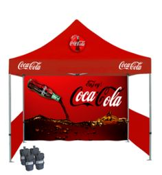 The Custom Printed Canopy Tent Includes A Color Roof And Back Wall With Unlimited Graphics High Quality Dye Sublimation Printing