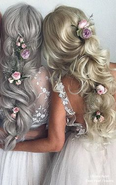 Trends Wedding Hairstyles : Ulyana Aster Long Bridal Hairstyles for Wedding # Modern Bob Hairstyles, Fancy Hairstyles, Hairstyles Haircuts, Vintage Hairstyles, Wedding Hairstyles, Gorgeous Hairstyles, Long Bridal Hair, Wedding Hair And Makeup, Hair Upstyles