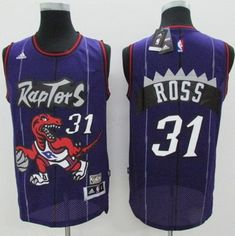"$28.88 at ""MaryJersey"" (maryjerseyelway@gmail.com) #31 Terrence Ross, #7 Kyle Lowry, #10 DeMar DeRozan - Raptors Purple Hardwood Classics Stitched NBA Jersey"