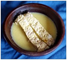 Harleian MS. 279 (ab 1430) - lvij - Charlet a-forcyd ryally - Pork Custard reinforced Royally- an unusual dish of pork cooked in almond milk and eggs,seasoned with wine, ginger, galingale, saffron and ginger.