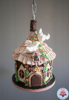 Hanging Bird House Cake - Cake by Veenas Art of Cakes
