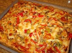 Pampered Chef, Easy Healthy Dinners, Hawaiian Pizza, Vegetable Pizza, Feta, Veggies, Snacks, Baking, Ethnic Recipes