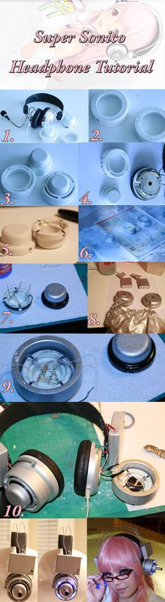 Super Sonico Headphone Tutorial by KannonKosplay on DeviantArt